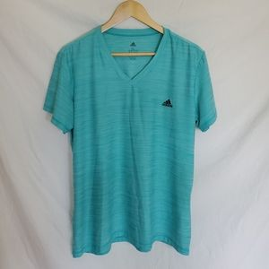 Adidas Climalite Teal Short Sleeve Shirt